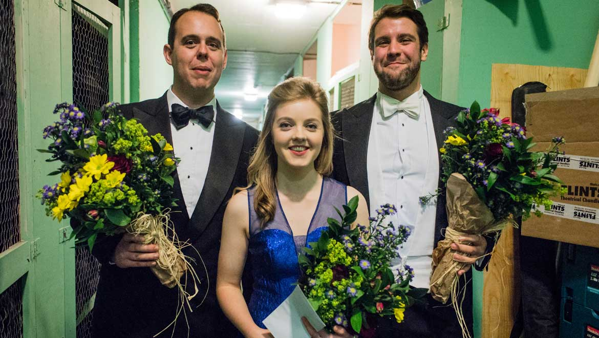 Rowan Pierce wins first prize at the inaugural Grange Festival International Singing Competition