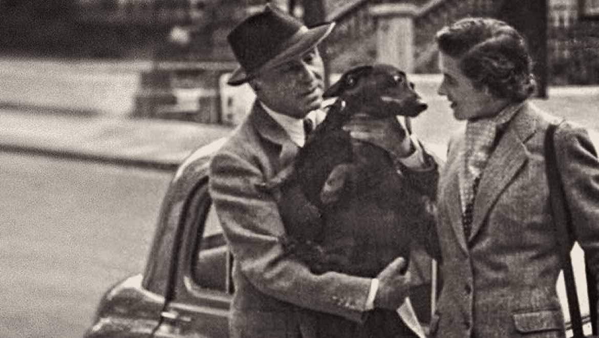 Joan Ingpen and her dog, Williams